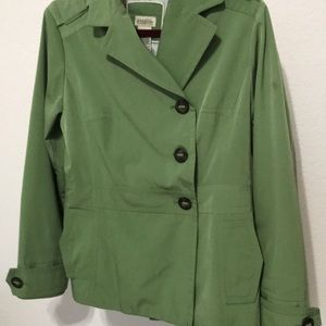 Gorgeous green trench coat
